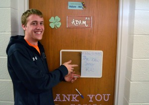 Adam Brinkman is one of the new senior RAs. Photo by Chasen Selsor