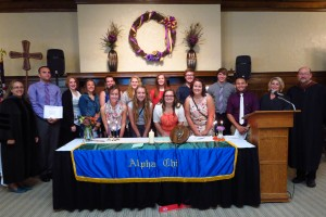 Alpha Chi inductees Photo by David Damm