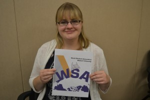 Alyssa Braun with the WSA logo - Photo by Dina Selviana