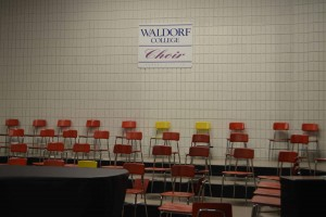 The Waldorf Choir room is empty for now, but many voices will soon fill the area. Photo by Qadeer Omar-Taylor