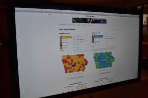 The New York Times website showed a vivid image of the results of the Iowa Caucuses. Photo courtesy Ashleigh Stingley