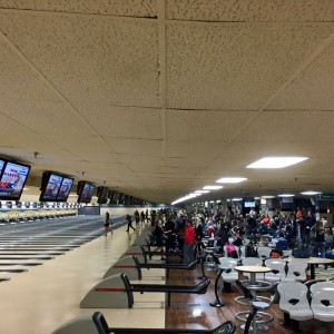 Here are just a few of the lanes the bowlers were bowling on during the ITS Tournament. Photo by Damon Helgevold