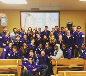Thirty-six Waldorf track and field athletes volunteered to assist the Feed My Starving Children organization. Photo courtesy Matt Oliver