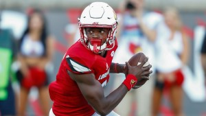 Lightning fast quarterback Lamar Jackson is off to a spectacular start this season, and could run away with the Heisman Trophy.