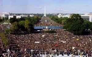 The first Million Man March took place on October 16,1995.