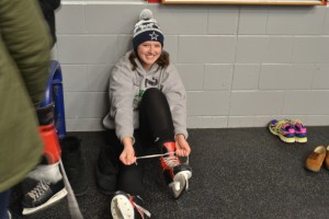 Warriors participated in the Skate with the Warriors event. Photo courtesy Victoria Carra