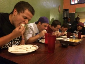 Students participate in Ay Jalisco's taco competition - Photo by Anthony Romualdo