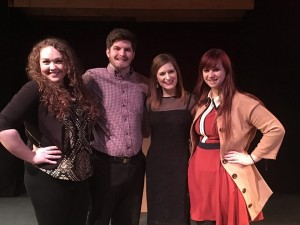 "Sarah Vlodek, Phil Detrick, Haley Rubin and Abbie Wells performed ""The Last Five Years"" as their senior capstone performance. Photo by Jonathan Quigley"