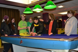 Members of the business  club work to plan the Blacklight Dance for Winterfest. Photo courtesy Shannon Clark