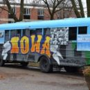 """Bus-eum exhibit """"At Home in the Heartland: How Midwesterners Got to Be 'Us,"""" visits Waldorf College"""